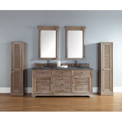 Comstock 72 Double Vanity Set  Top Finish: Rustic Black