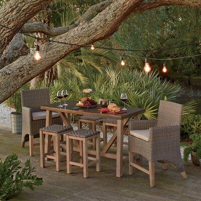 Buy Monterey Teak Bar Height Dining Set Sunbrella Cushions Product Photo