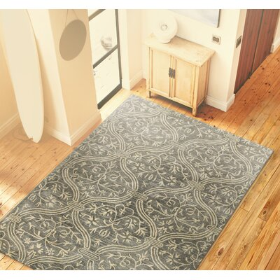 Oliver Slate Geometric Wool Hand-Tufted Area Rug