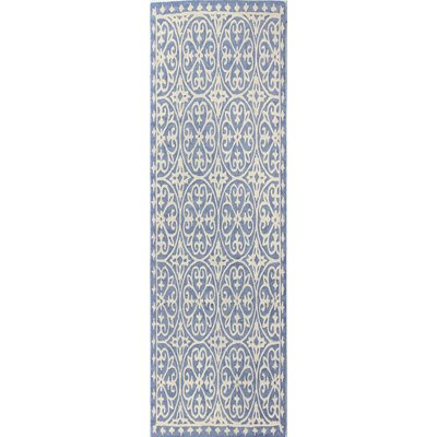 Harper Hand-Woven Denim Area Rug Size: Runner 26 x 8