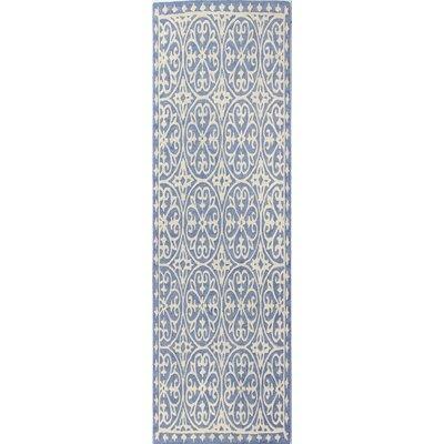 Harper Hand-Woven Denim Area Rug Size: 76 x 96