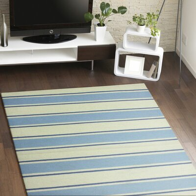 Rory Parchment & Sky Hand-Woven Area Rug Rug Size: Rectangle 5 x 76