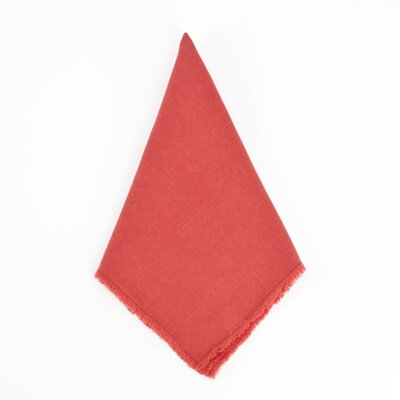 Sunderland Napkins Color: Red