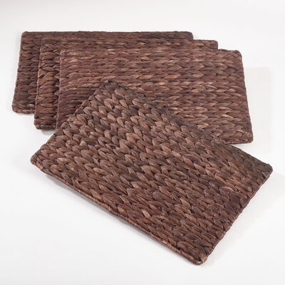 Rectangular Woven Placemat Color: Coffee
