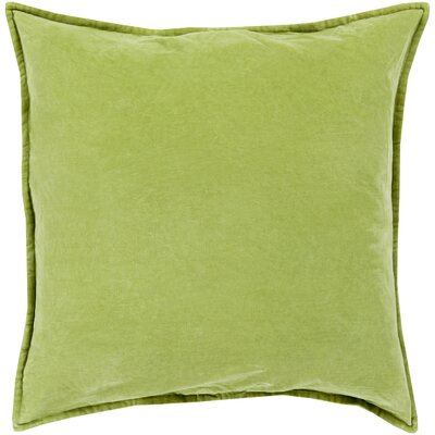 Samara Velvet Pillow Cover Size: 20 H x 20 W x 1 D, Color: Fern