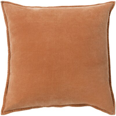 Samara Velvet Pillow Cover Size: 18 H x 18 W x 1 D, Color:  Burnt Orange