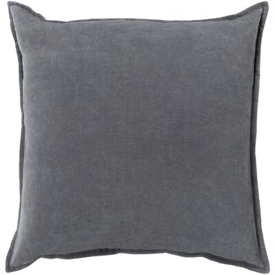 Samara Velvet Pillow Cover Size: 18 H x 18 W x 1 D, Color: Gray