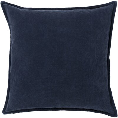 Samara Velvet Pillow Cover Size: 22 H x 22 W x 1 D, Color: Navy