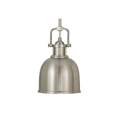 Edington Pendant Size: 11.25 H x 8 D, Finish: Brushed Steel