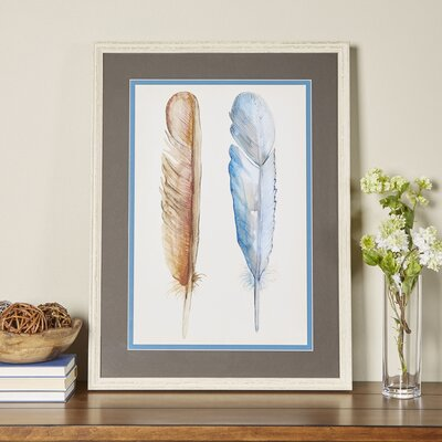 Watercolor Quills Framed Print