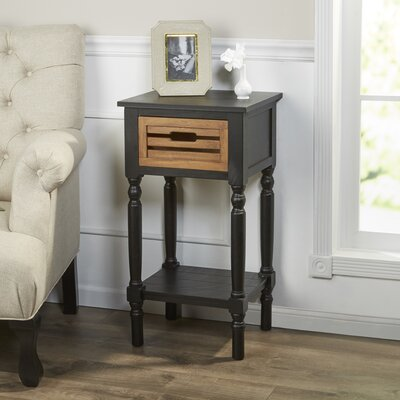 Ingham Chairside Table Finish: Black