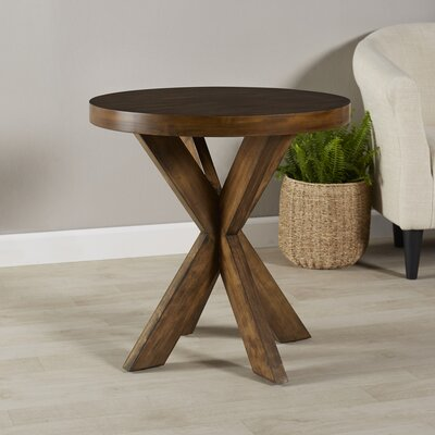 Rayne End Table Color: Praline