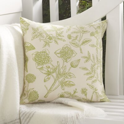 Jace Outdoor Pillow Size: 18 x 18, Color: Green