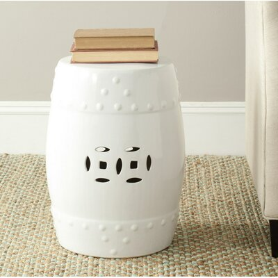 Glazed Ceramic Garden Stool Finish: White