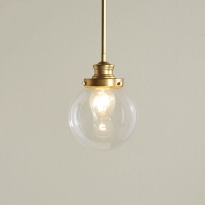 Cayden LED 1-Light Globe Pendant Finish: Natural Brass