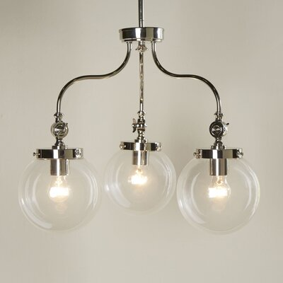 Wyndam 3-Light Mini Chandelier Finish: Polished Nickel