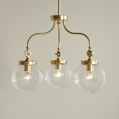 Wyndam 3-Light Mini Chandelier Finish: Natural Brass