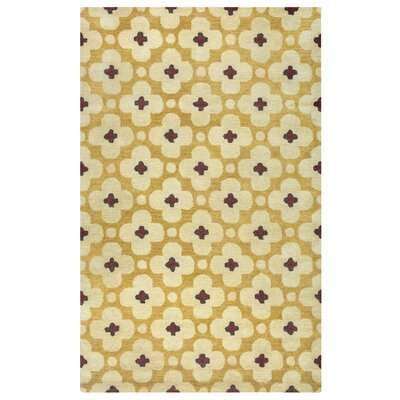 Matilda Gold Rug Rug Size: Rectangle 5 x 8