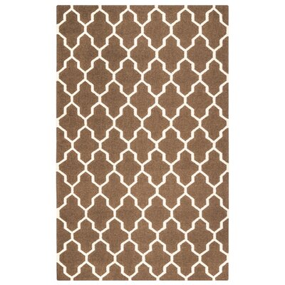 Kingsley Chocolate Rug Rug Size: Rectangle 5 x 8