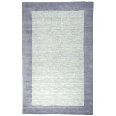 Abigail Rug Hand-Tufted Wool Light Blue Area Rug Rug Size: 5 x 8