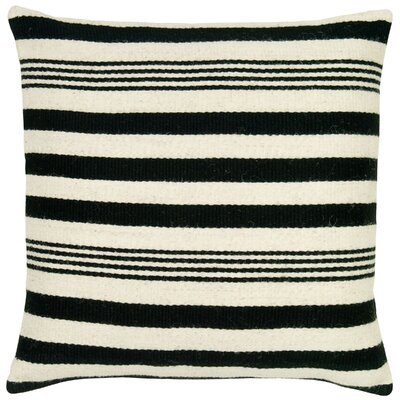 Edie Wool Pillow Cover Color: Black