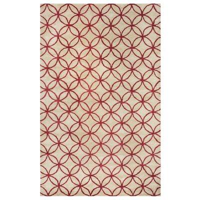 Kenzie Natural & Brick Rug Rug Size: Rectangle 5 x 8