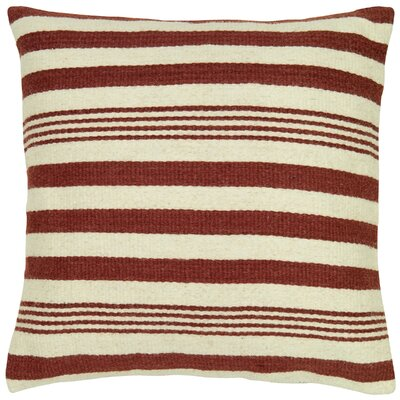 Edie Wool Pillow Cover Color: Rust
