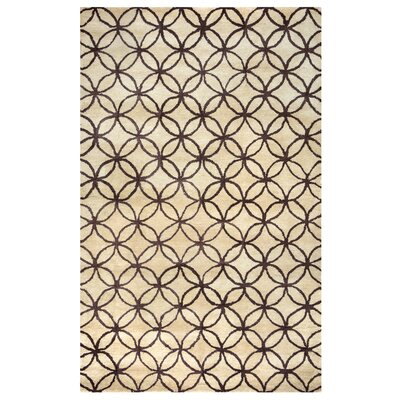 Kenzie Natural & Chocolate Rug Rug Size: Rectangle 5 x 8