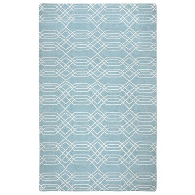 Libby Blue & Parchment Rug Rug Size: 5' x 8'