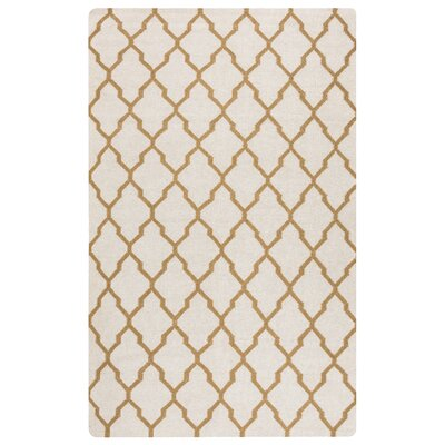 Kingsley Parchment & Gold Rug Rug Size: Rectangle 5 x 8