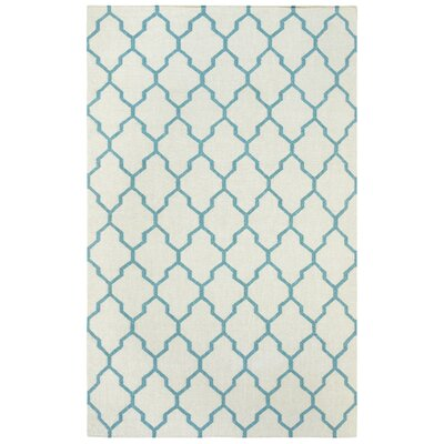Kingsley Parchment & Sky Rug Rug Size: 5 x 8