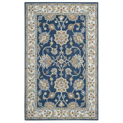 Marnie Hand-Woven Wool Area Rug Rug Size: Rectangle 5 x 8
