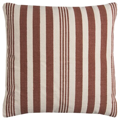 Edie Wool Pillow Cover Color: Rust Ivory