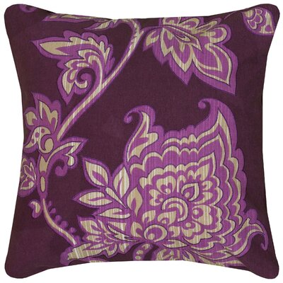 Penelope Pillow Cover Size: 18 x 18, Color: Purple