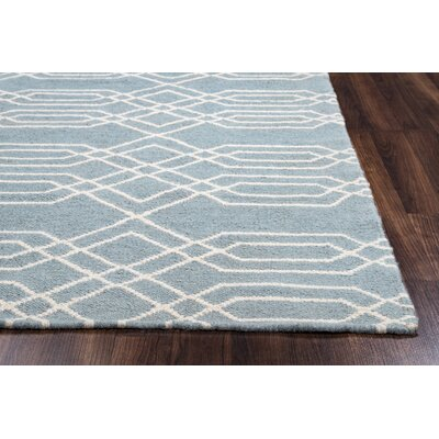 Libby Blue & Parchment Rug Rug Size: Rectangle 8' x 10'