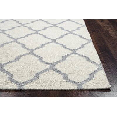 Kingsley Parchment & Light Gray Rug Rug Size: Rectangle 8 x 10