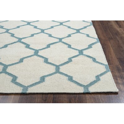 Kingsley Parchment & Sky Rug Rug Size: Rectangle 8 x 10