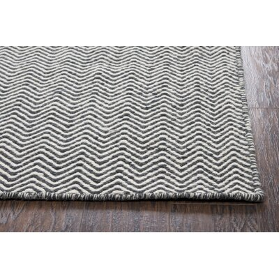 Ava Black Rug Rug Size: Rectangle 8 x 10