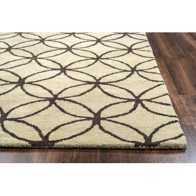 Kenzie Natural & Chocolate Rug Rug Size: 3 x 5