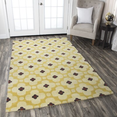 Matilda Gold Rug Rug Size: Rectangle 2 x 3