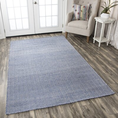 Ava Blue Rug Rug Size: Rectangle 8 x 10