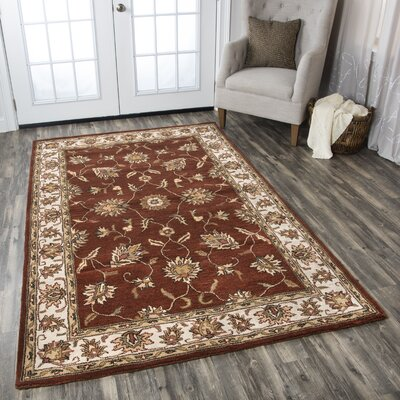 Riley Rust Rug Rug Size: Rectangle 3 x 5