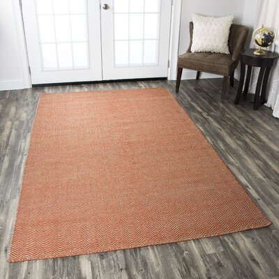 Ava Rust Rug Rug Size: Rectangle 8 x 10