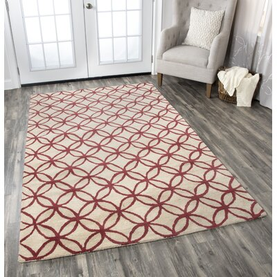 Kenzie Natural & Brick Rug Rug Size: Rectangle 8 x 10