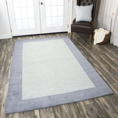 Abigail Rug Hand-Tufted Wool Light Blue Area Rug Rug Size: Rectangle 3 x 5