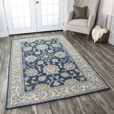 Marnie Hand-Woven Wool Area Rug Rug Size: Rectangle 3 x 5