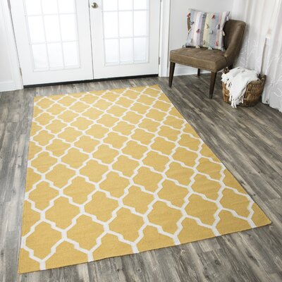 Kingsley Canary Rug Rug Size: Rectangle 8 x 10