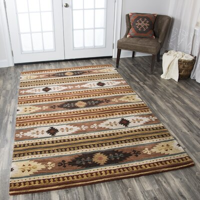 Magda Hand-Woven Wool Area Rug Rug Size: Rectangle 8' x 10'