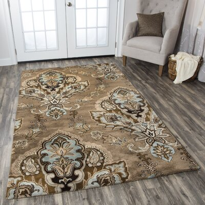 Leona Latte Rug Rug Size: Rectangle 8 x 10