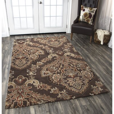 Leona Chocolate Rug Rug Size: Rectangle 8 x 10